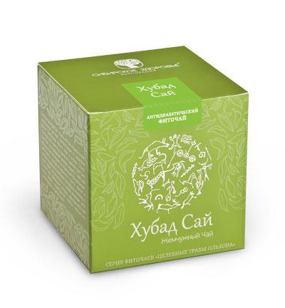 БАД Фиточай Хубад Сай (Жемчужный чай) зеленая упаковка