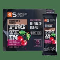 Мультикомпонентный протеин премиум-класса Вишня и шоколад - Siberian Super Natural Sport