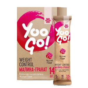 Напиток Weight Control (малина-гранат) — Yoo Go